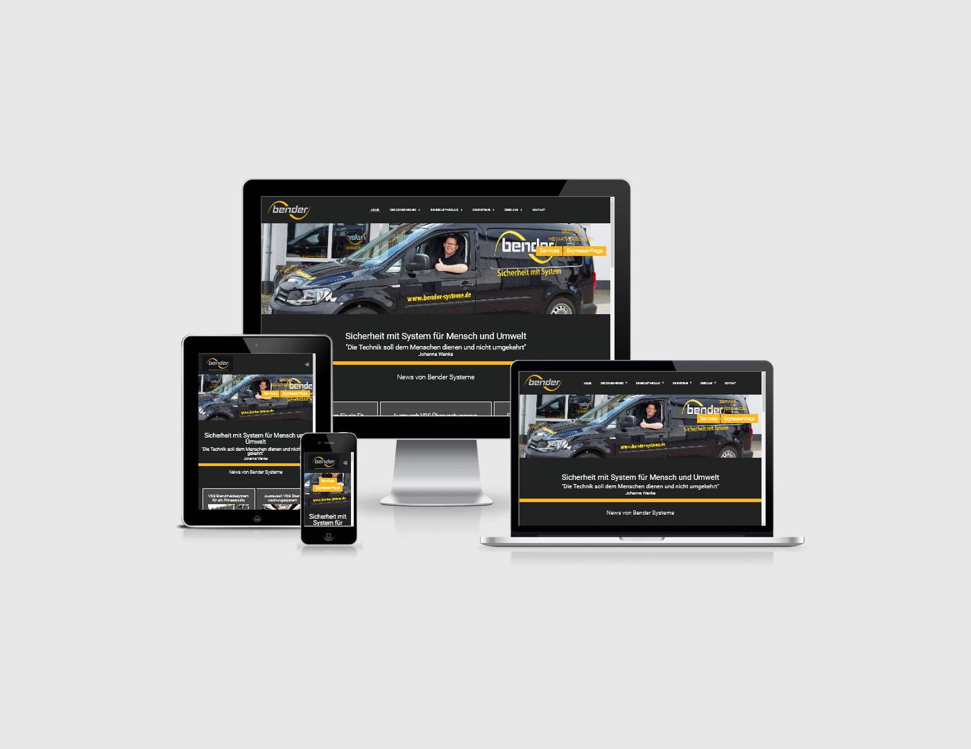 Eifel erstellt eine Webseite für Bender-Systeme GmbH & Co. KG aus der Eifel