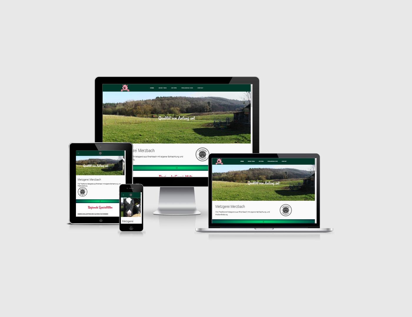 Eifel erstellt eine Webseite für Metzgerei Merzbach aus der Eifel