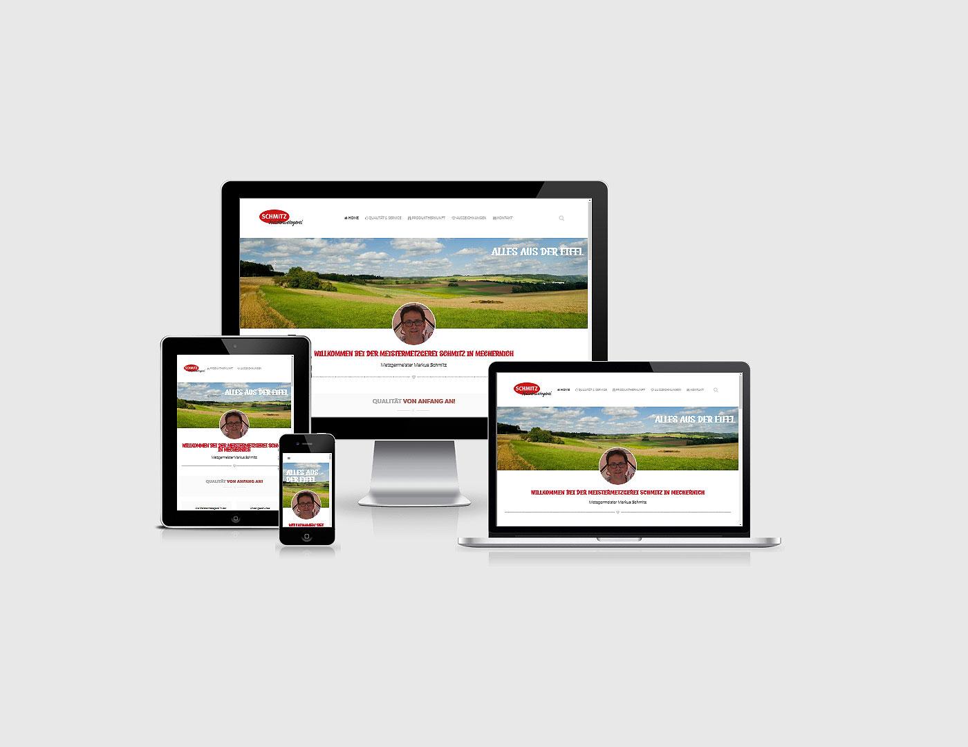 Webdesign Eifel erstellte Webseite fuer Metzgerei Schmitz