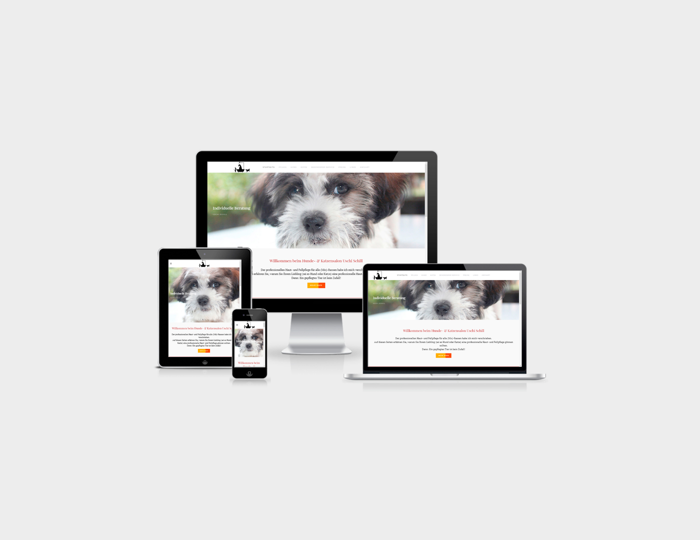 Webdesign Eifel erstellte Webseite fuer Eifel-Hundesalon in Belgien in der Eifel an der belgischen-deutschen Grenze