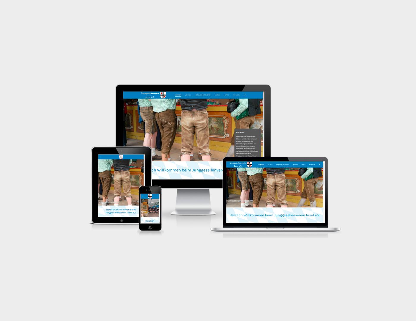 Webdesign Eifel erstellte Webseite fuer Junggesellenverein in Insul in der Eifel