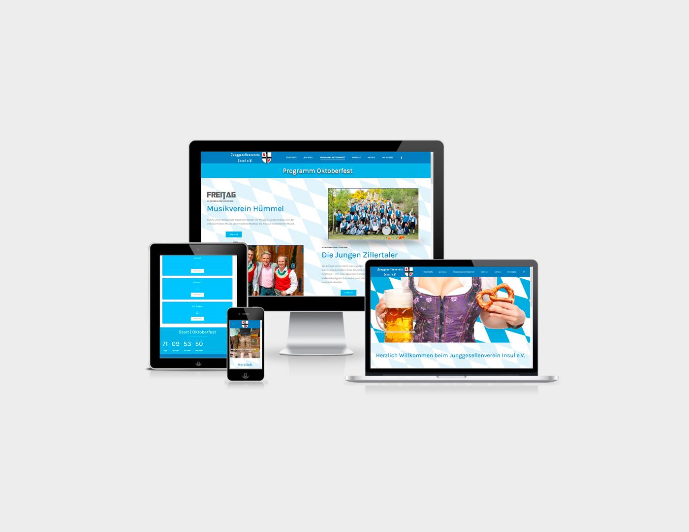 Webdesign Eifel erstellte Webseite fuer eine Webseite für das Oktoberfest in Insul aus der Eifel